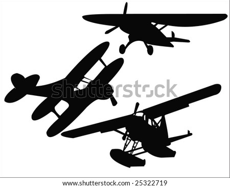 airplane vector - stock vector