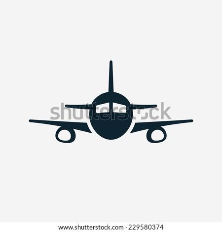 Airplane vector icon - stock vector