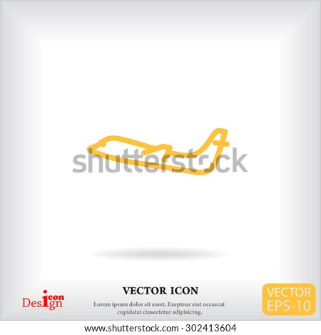 airplane vector icon - stock vector