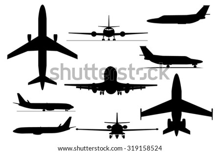 Airplanes collection - stock vector