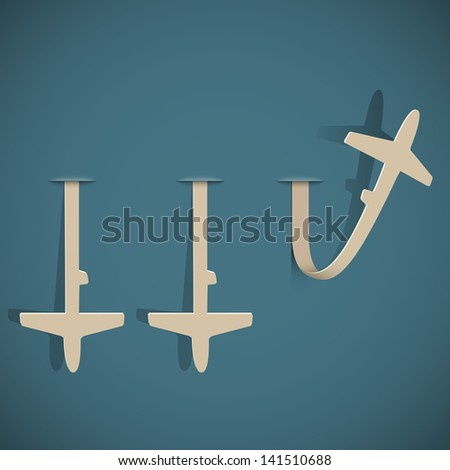 Airplanes paper. Vector illustration - stock vector