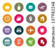 Airport and airlines services icons - stock photo
