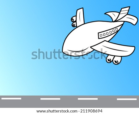 airport and airplane  - stock vector