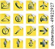 Airport and Travel Icons, Vector File pictogram - stock vector