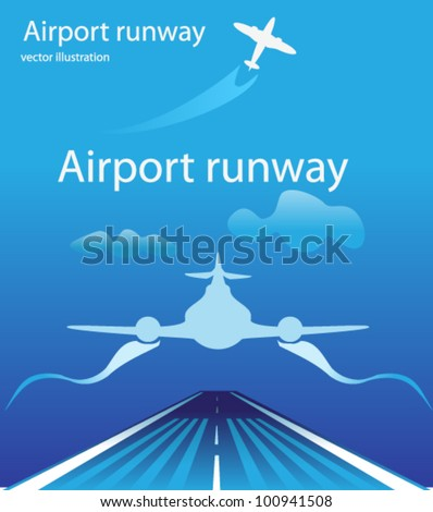 airport background - stock vector
