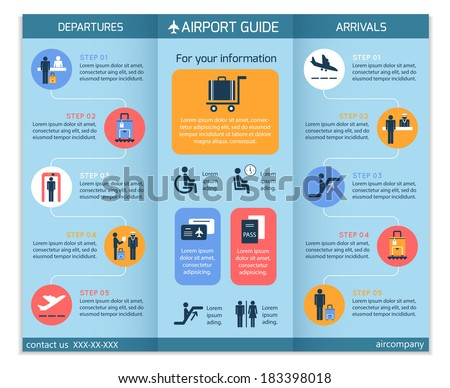 Travel brochure stock images royalty free images for Security company brochure template
