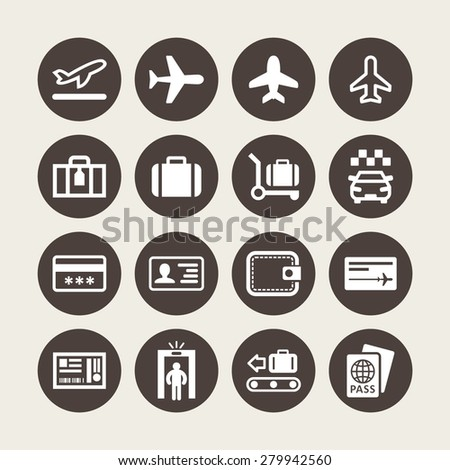 Airport icons for tourism