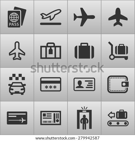 Airport icons for web