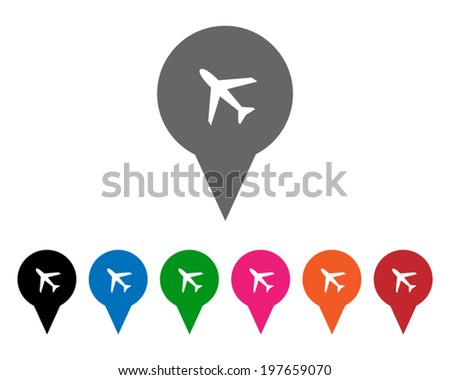 Airport pointers - stock vector