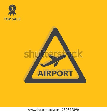Airport sign icon, vector illustration. Airport symbol. Flat icon. Flat design style for web and mobile.