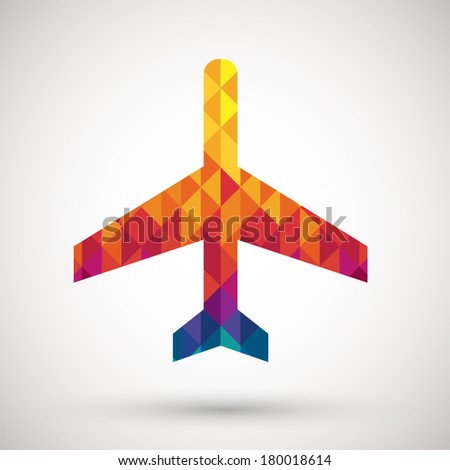 airport sign with colorful diamond - stock vector