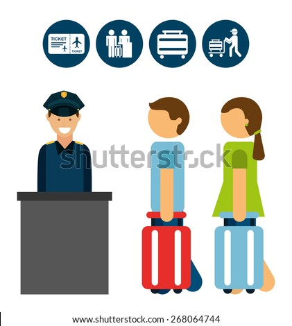 airport signs design, vector illustration eps10 graphic  - stock vector