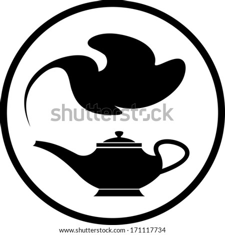 genie magic lamp silhouette clip