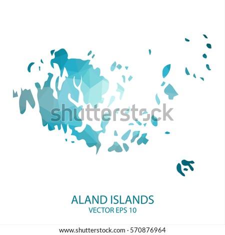 Aland Stock Vectors Images Vector Art Shutterstock - Aland islands world map
