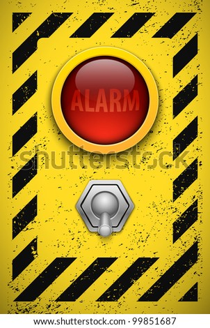 Alarm bulb. Realistic vector illustration. Eps10