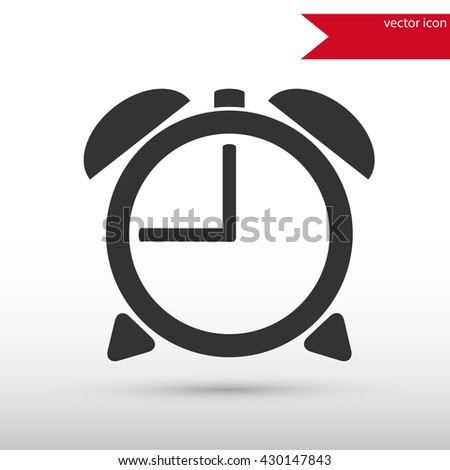Alarm clock. Black icon vector and jpg. Flat style object. Art picture drawing. Eps 10. Web icons.