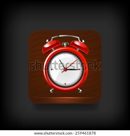 Alarm clock button. Vector - stock vector