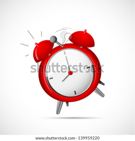 Alarm clock cartoon - stock vector
