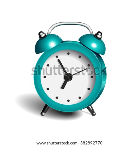 Alarm Clock 3d Vector Object Pure Color Light Blue