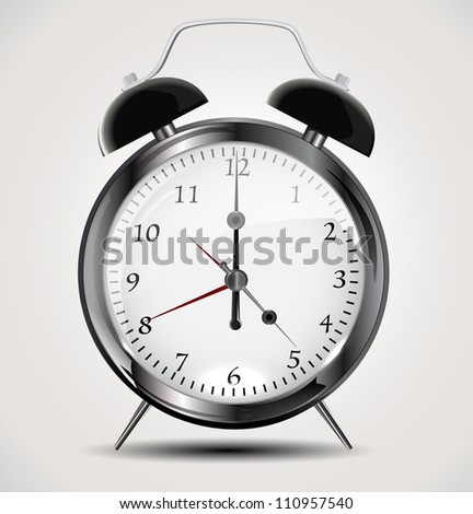 Alarm Clock eps10 - stock vector