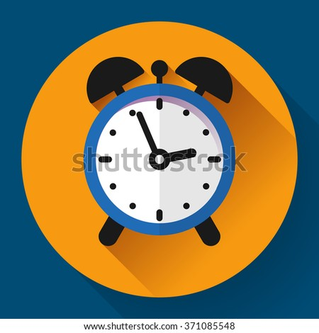 alarm clock icon. Business Flat design style - stock vector