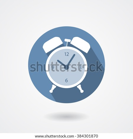 Alarm clock icon isolated on white background. Vector sign - stock vector