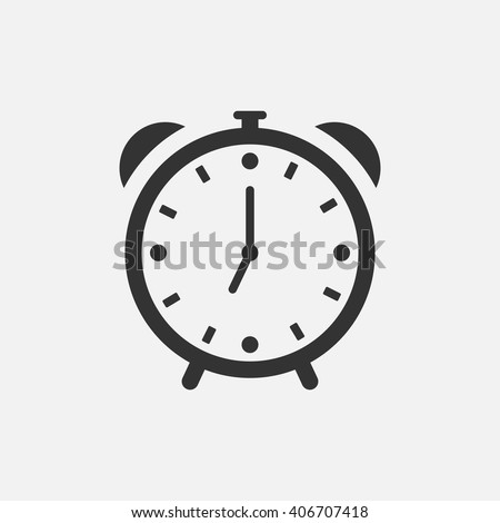 Alarm Clock icon vector, solid illustration, pictogram isolated on white - stock vector
