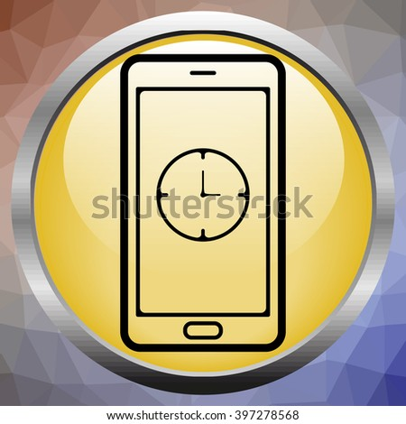 alarm clock is calling on the phone vector - stock vector