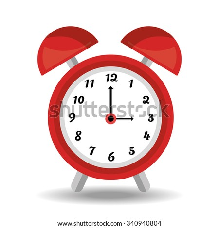 Alarm clock isolated icon theme design, vector illustration