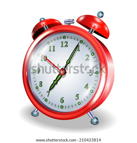 Alarm clock isolated on white background