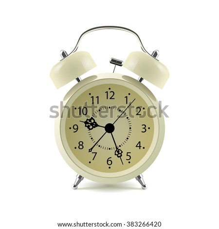 Alarm clock isolated on white background. Vector illustration - stock vector