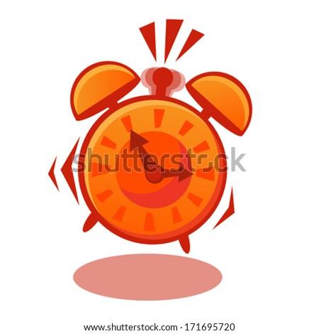 Alarm clock ringing - stock vector