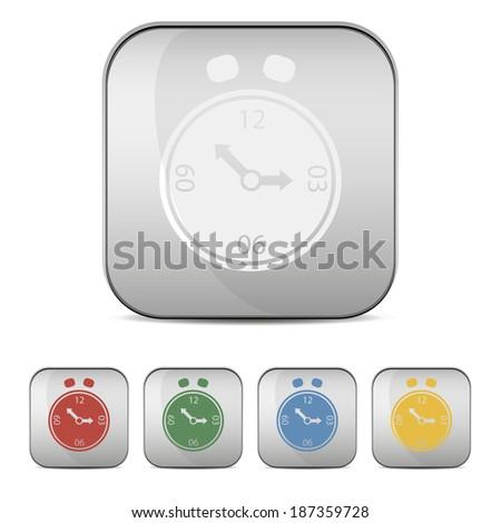 alarm clock set - stock vector