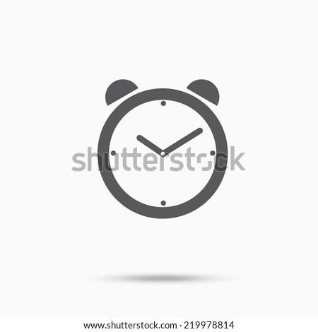 Alarm clock time concept design icon - stock vector