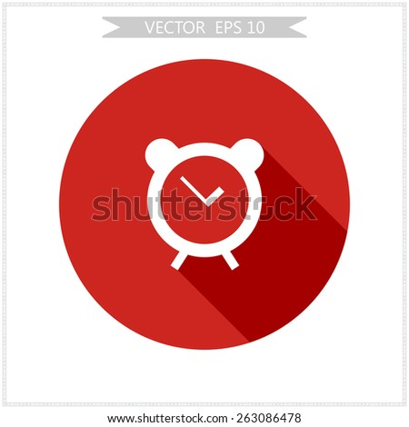 alarm clock to wake up in the morning vector - stock vector