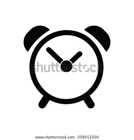 Alarm icon Vector Illustration on the white background. - stock vector