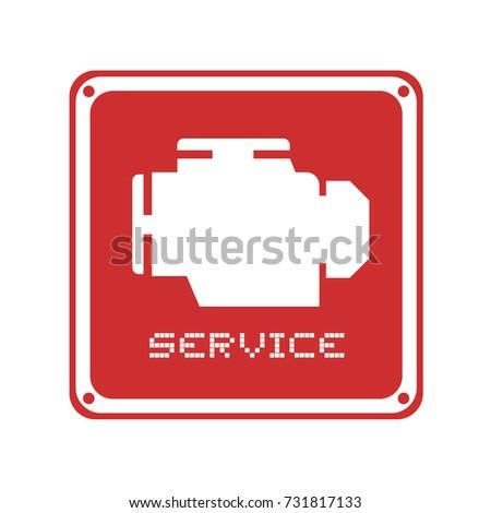 Alarm Motor Symbol Stock Vector HD (Royalty Free) 731817133 ...