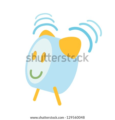 Alarm on isolated background. Vector design. - stock vector