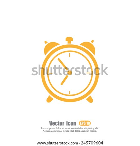 alarm vector icon - stock vector