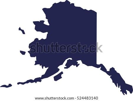 Alaska Map Stock Images RoyaltyFree Images Vectors Shutterstock - Alaska state map