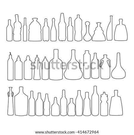 Bottle Collection Vector Silhouette 125386415