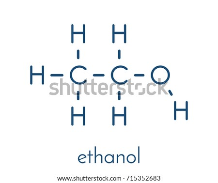 Alcohol Ethanol Ethyl Alcohol Molecule Chemical Stock ...