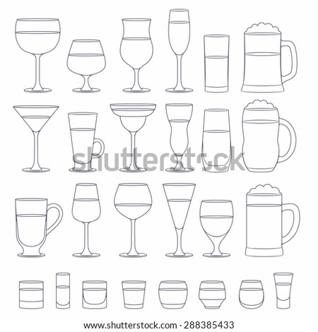 Alcohol glasses set