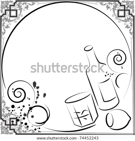 alcohol menu - stock vector