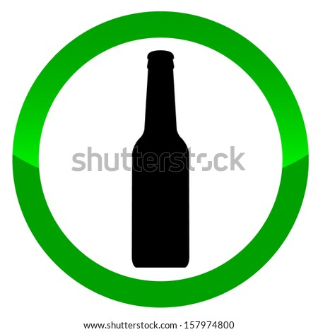 Alcohol vector sign on a white background - stock vector