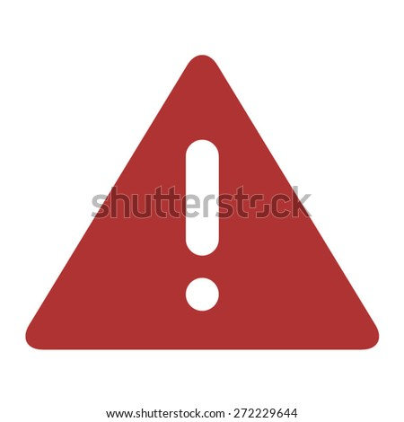 Alert warning flat icon for apps and websits - stock vector
