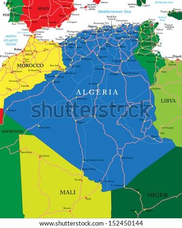 Algeria map - stock vector