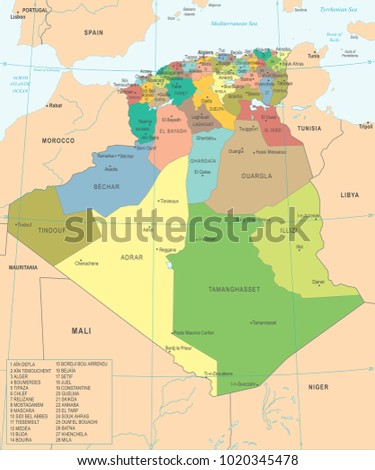 Time Zone Map Stock Images RoyaltyFree Images Vectors - Ouargla map