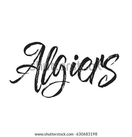 Virgo Text Design Vector Calligraphy Typography Stock