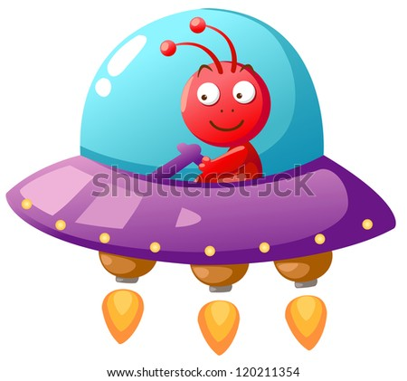 Alien Ufo vector - stock vector